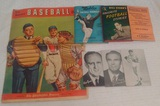 Vintage 1940s 1950s Baseball Football Roundup Basketball Joe Louis Arcade Exhibit Card Lot