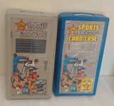 2 Different Vintage 1980s Tara Toy Plastic Vinyl Sport Card Locker Pair Storage