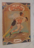 Vintage 1973 Baltimore Orioles Yearbook & 1994 Magazine w/ Card Insert