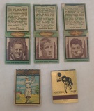 Vintage 1940s Chicago Bears Match Books Lot w/ 1970s Colts Johnny Unitas