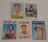 5 Vintage Baseball Card Lot Clemente Hodges Howard Eckersley HOF