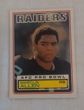 1983 Topps NFL Football #294 Marcus Allen Rookie Card RC Raiders HOF Nice