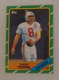 Vintage 1986 Topps NFL Football #374 Steve Young Rookie Card RC HOF