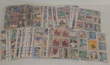 Huge Lot 1980s 1990s Baseball Cards In Sheets Some Stars
