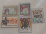 5 Autogtaphed Steelers NFL Football Card Lot Rookies