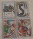 4 Autogtaphed Steelers NFL Football Card Lot Rookies