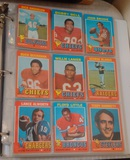 Vintage 1971 Topps NFL Football Card Album 200 Cards Stars