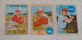 Vintage 1967 1968 1969 Topps Baseball Card Lot Pete Rose Reds Phillies