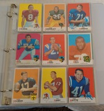 Vintage 1969 Topps NFL Football Card Album 162 Cards Stars