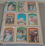 Vintage 1972 Topps MLB Baseball Card Album 306 Cards Stars HOFers