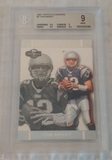 2007 Topps Co-Signors #4 Tom Brady NFL Football Card Patriots BGS GRADED 9 MINT