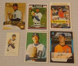 6 Different 2005 Justin Verlander Rookie Card Lot Topps Bowman Reflections Allen Ginter's Heritage