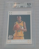 2007-08 Topps NBA Basketball Rookie Card #2 Kevin Durant RC BGS Beckett GRADED 8.5 MINT White #2