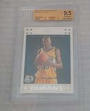 2007-08 Topps NBA Basketball Rookie Card #2 Kevin Durant RC BGS Beckett GRADED 9.5 GEM MINT White