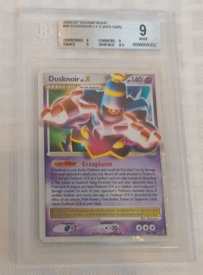 2008 Pokemon DP Stormfront #96 Dusknoir LV Holo BGS GRADED 9 MINT Rare Ectoplasm Card Beckett