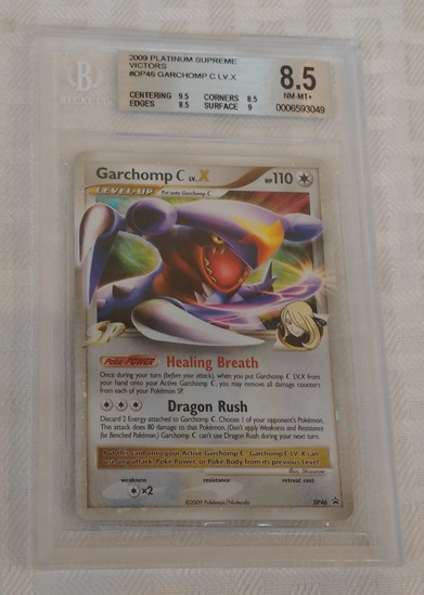 2009 Pokemon Platinum Supreme Victors Garchomp Healing Breath Dragon Rush Card BGS Beckett 8.5 Rare