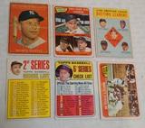 6 Vintage 1960s Topps Baseball Mickey Mantle Card Lot Yankees HOF Low Grade