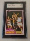 1981-82 Topps #21 NBA Basketball Card Magic Johnson Lakers 2nd Year SGC 92 GRADED NRMT+ 8.5 HOF