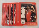 Vintage 1984 STAR NBA Basketball Team Set #1-25 Philadelphia 76ers Sixers Champs Dr J