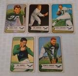 5 Vintage 1954 Bowman NFL Football Philadelphia Eagles Card Lot