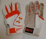 2012 Mark Reynolds Orioles Game Used Batting Glove Pair Set 2 Gloves Rare MLB Team Issued GU