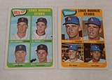 2 Vintage 1965 Topps Baseball High Number Dodgers Red Sox Rookies Card Pair