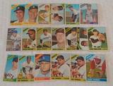 19 Vintage 1966 Topps Baseball Card Lot HOFers Perez Aparicio Drysdale Morgan