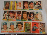 19 Vintage 1961 Topps Baseball Card Lot Ashburn Fox Aparicio Santo HOFers