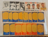 Vintage Topps Insert Oddball Card Lot 1968 Game 1974 Deckle 1965 Embossed Decal