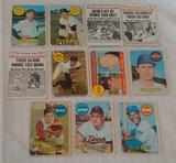 11 Vintage 1969 Topps MLB Baseball Card Lot w/ Stars Banks Bench Killebrew Cash