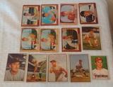 Vintage Bowman Baseball Card Lot 1950s 1951 1953 1955 Roberts