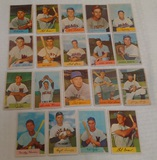 19 Different Vintage 1954 Bowman Baseball Card Lot w/ Larry Doby
