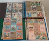 3 Vintage NFL Football Card Album Lot 1970s Topps w/ 1979 Partial Near Set 485/528
