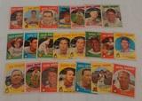 22 Vintage 1959 Topps Baseball Card Lot Alou Wilhelm