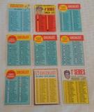 9 Different Vintage 1960s MLB Baseball Topps Checklist Card Lot 1963 Drysdale