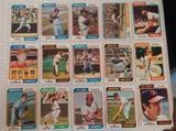 15 Different Vintage 1974 Topps Baseball Card Lot All HOFers Brooks Killebrew Kaline Carew Seaver