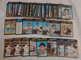 132 Vintage 1971 Topps MLB Baseball Card Lot Stars HOFers Some Recolored