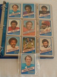 Vintage Wonder Bread NFL Football Card Lot Album w/ 1976 Set