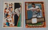 2005 Upper Deck Classics Cal Ripken Jr Relic Game Used Jersey Insert Card w/ 1994 Topps Gold Orioles