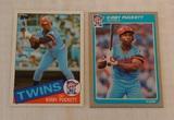 Key Vintage 1985 Topps Fleer Kirby Puckett Rookie Card Pair RC Twins HOF