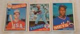 Key Vintage 1985 Topps Baseball Star Rookie Card Trio Puckett McGwire Gooden