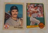 Key Vintage 1983 Donruss & Fleer MLB Baseball Wade Boggs Red Sox Rookie Card RC Pair HOF
