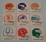 9 Different Vintage 1978 Kellogg's NFL Football Sticker Lot 2 Bar Helmet