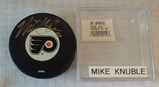 Autographed Signed NHL Hockey Puck Flyers Logo Mike Knuble BC Sports COA w/ Case