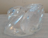 Swarovski Glass Swan Animal Figurine Paperweight Stamped Bottom Crystal