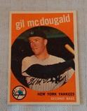 Vintage 1959 Topps Baseball Card #345 Gil McDougald Yankees Overall Solid Grade
