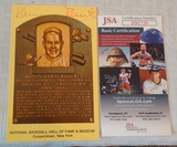 Robin Roberts Autographed HOF Plaque Card Phillies Baseball MLB JSA COA