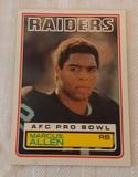 Key Vintage 1983 Topps NFL Football #294 Marcus Allen Rookie Card RC Raiders HOF Stain