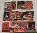 15 Michael Jordan NBA Basketball Card Lot Bulls HOF Insert Base