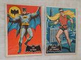 Vintage 1966 Topps Batman & Robin Card Pair #1 & #2 Non Sport